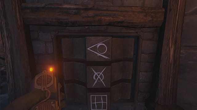Align these symbols in We Were Here Too's fifth room