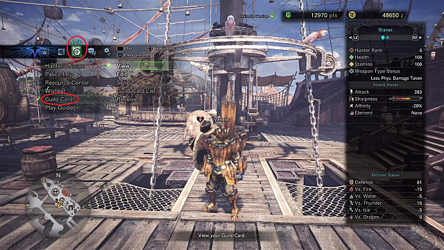 New features open up in Monster Hunter World when you exchange guild cards