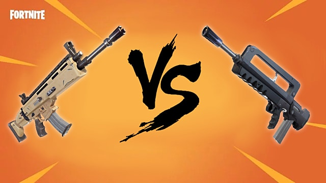 fortnite battle royale scar vs famas which one is better fortnite - free fire ou fortnite