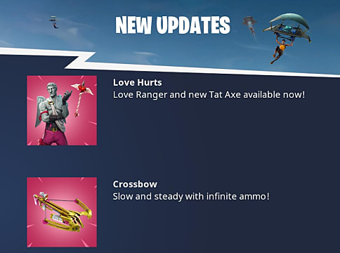 Don't forget that Fortnite crossbow damage is still just as deadly this Valentines Day