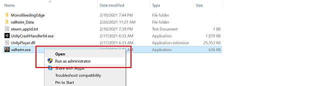 The run as administrator option in system files.