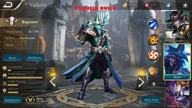 Arena of Valor: A Few Val-fine Valhein Builds | Arena of Valor