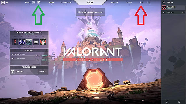 Buy the Valorant Battle Pass by purchasing Valorant Points.