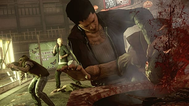 Wei Shen, Sleeping Dogs, takedown, blood