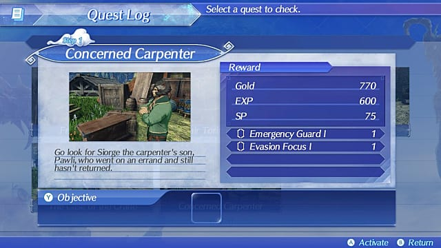Improved Quest Log and Sliding Difficulty Xenoblade Chronicles 2 Beginner's Guide Tips