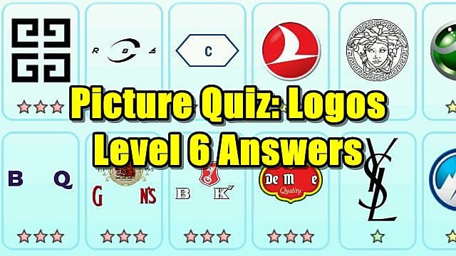 Picture Quiz Logos Level 6 Answers Picture Quiz Logos