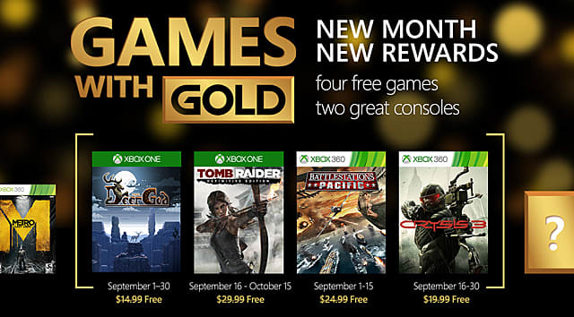 Xbox Live Gold September Game Lineup Tomb Raider And Crysis
