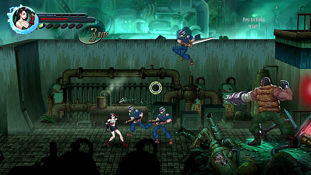 Final Fantasy 7 re-imagined as a 2D side-scroller