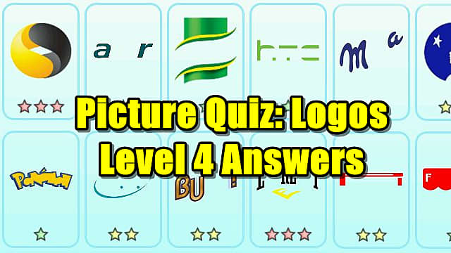 picture quiz logos level 4 answers picture quiz logos