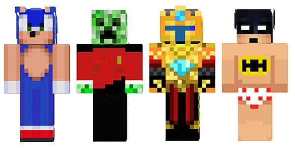 Cool Minecraft Skins To Rock With You Blocks Out Minecraft