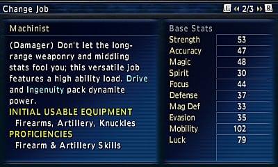 Final Fantasy Explorers Job Guide: Machinist | Final Fantasy