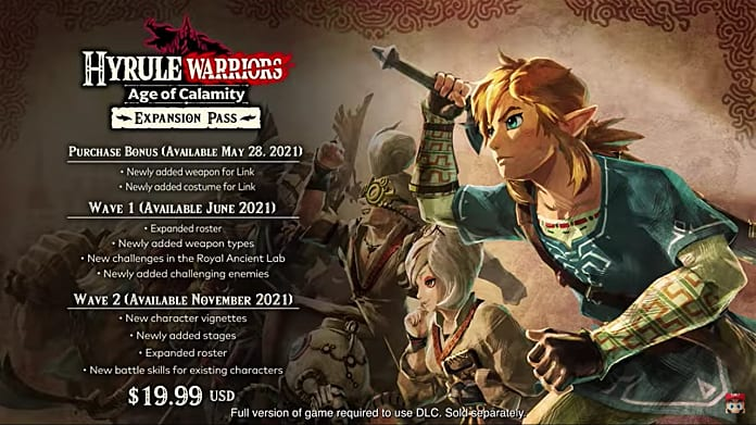 Hyrule Warriors Age Of Calamity Expansion Pass Detailed Hyrule Warriors Age Of Calamity