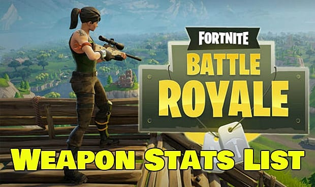 complete fortnite battle royale weapons stats list - heavy ar fortnite stats
