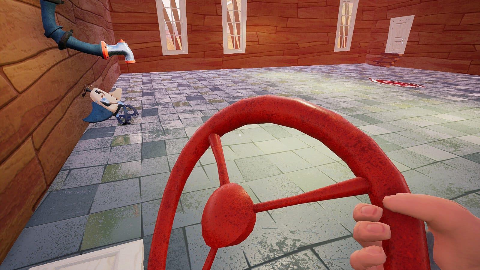 How To Unlock Steering Wheel >> Hello Neighbor Act 2 Puzzle Walkthrough | Hello Neighbor