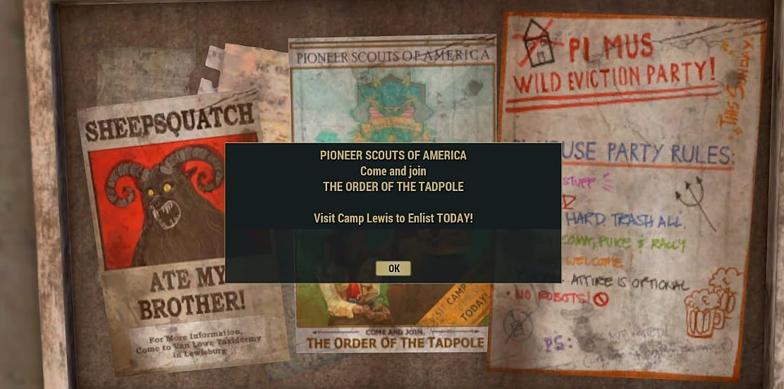 Fallout 76 Order Of The Tadpole Quest Guide Fallout 76