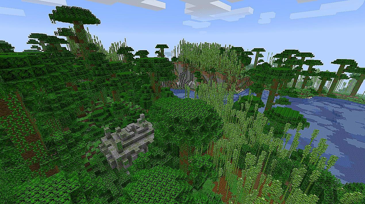 как найти тропический лес в майнкрафт #5