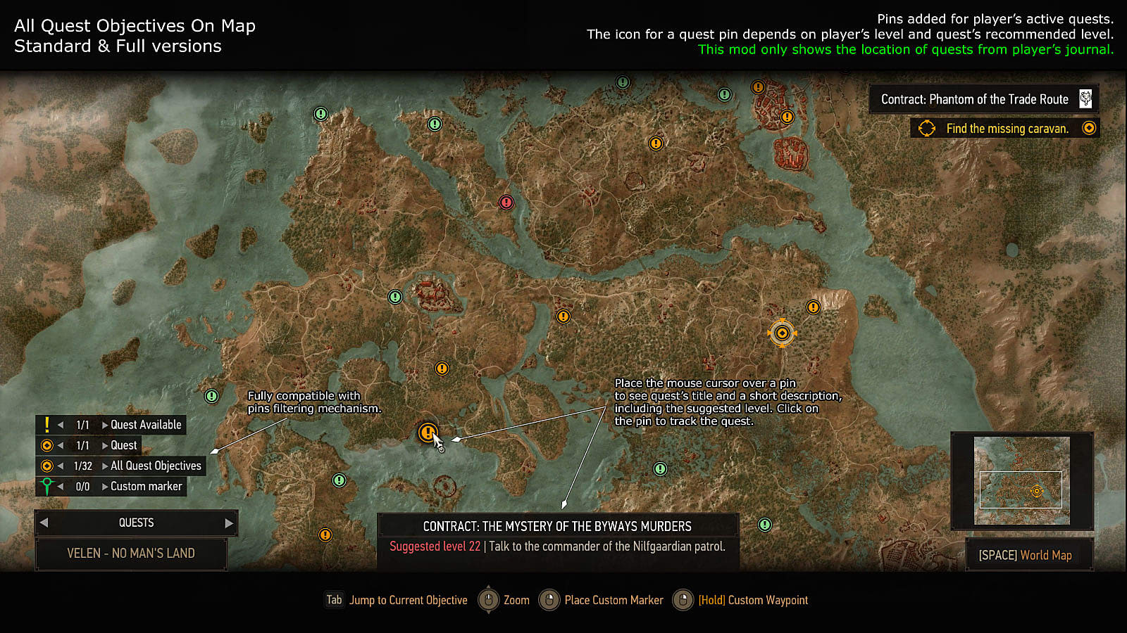 12 Best Mods for The Witcher 3 | Slide 12 | The Witcher 3 ... Witcher World Map Detailed on witcher 3 armor sets, witcher 3 all maps, the witcher map detailed, witcher 3 cave of ruins,