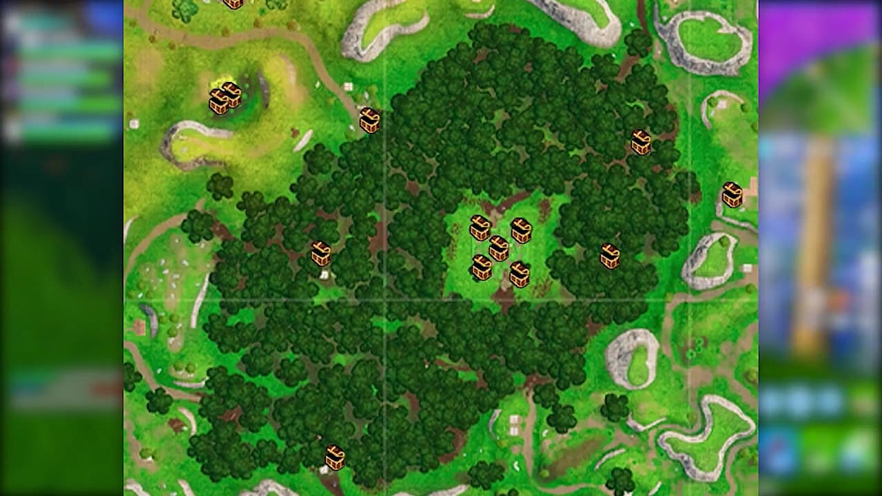 all chest locations in wailing woods - camera spots on fortnite