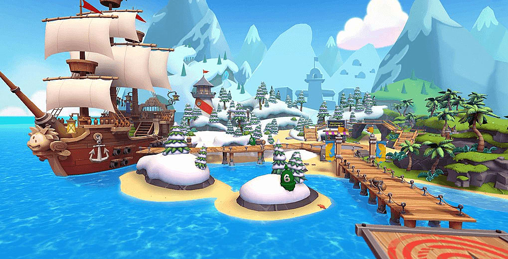 Club Penguin Island Play