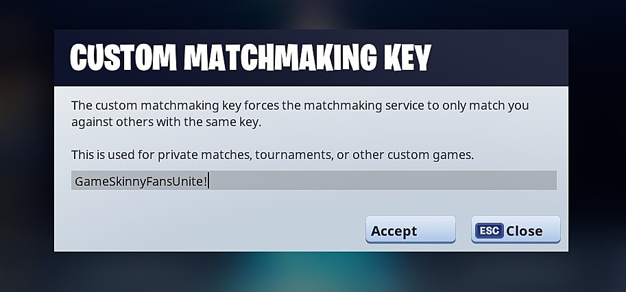 How to Get a Fortnite Custom Matchmaking Key | Fortnite