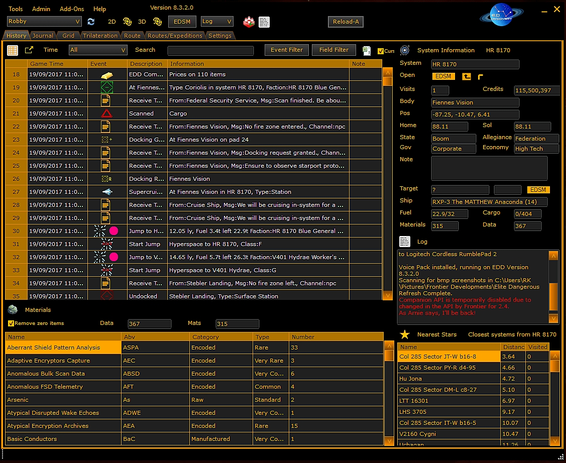 elite dangerous pilot application board