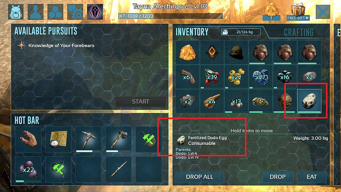 How to Hatch Eggs in Ark Mobile | ARK: Survival Evolved