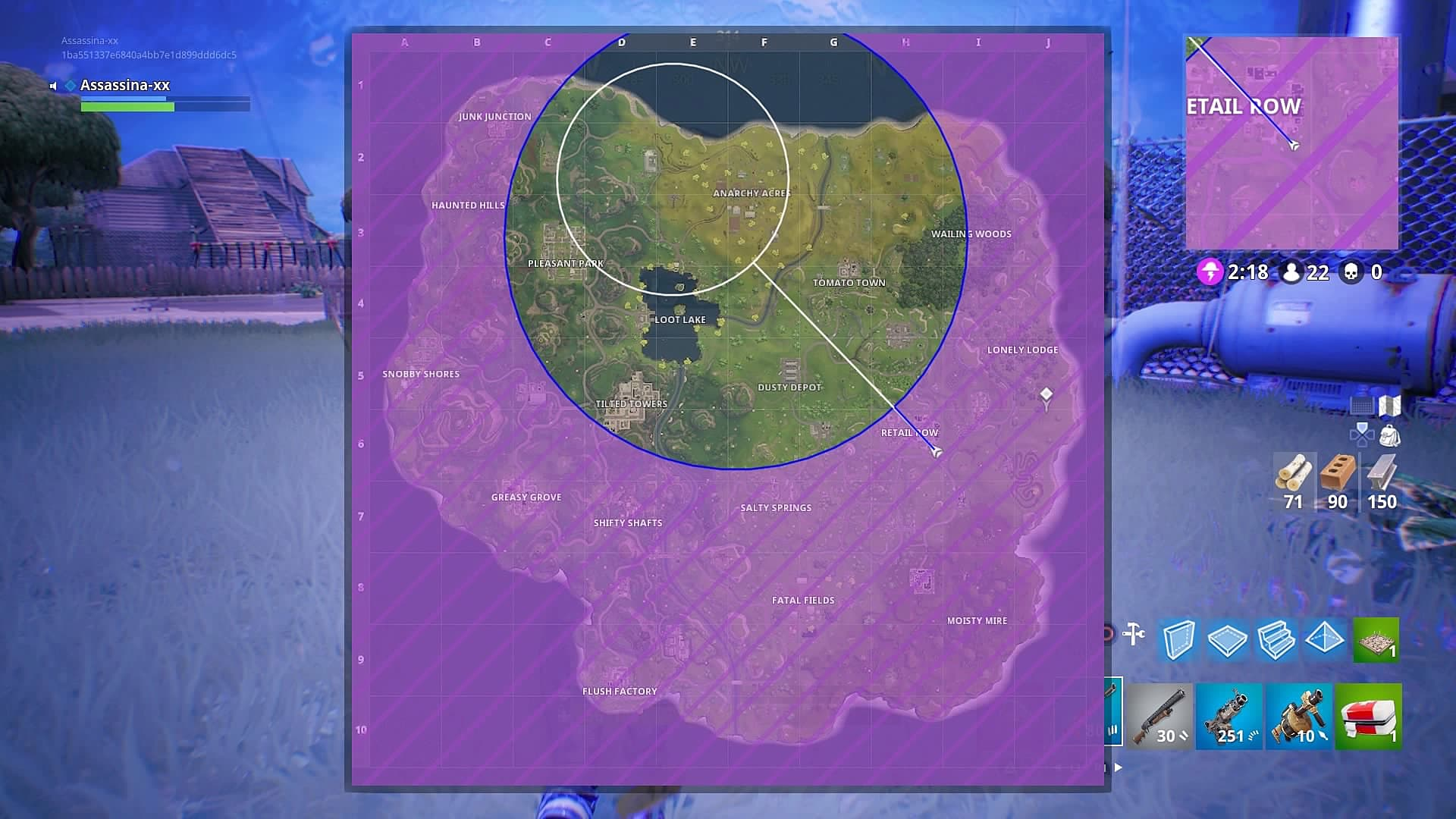 how to change safe zone on fortnite