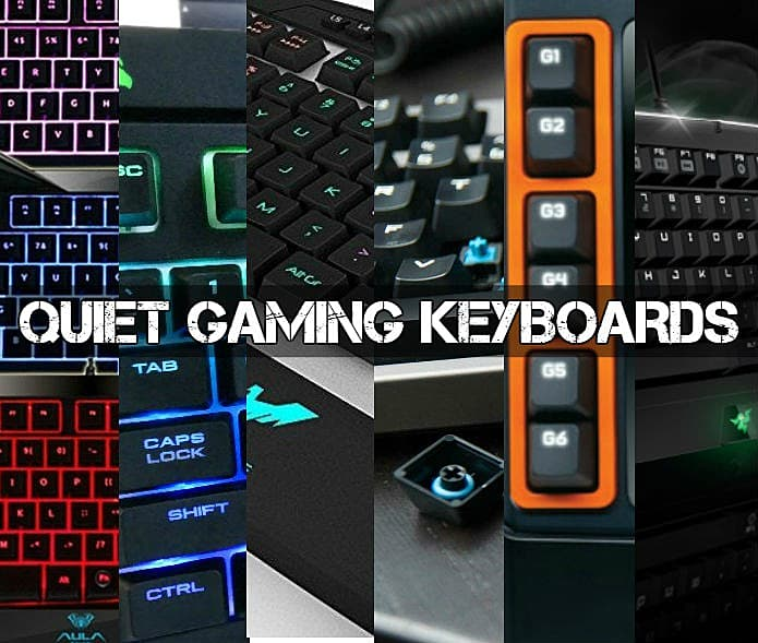 c1a4a09243c Sadly, most of the new 2016 – 2017 gaming keyboards are most certainly not  built with silence in mind, offering utility instead of low volume, ...