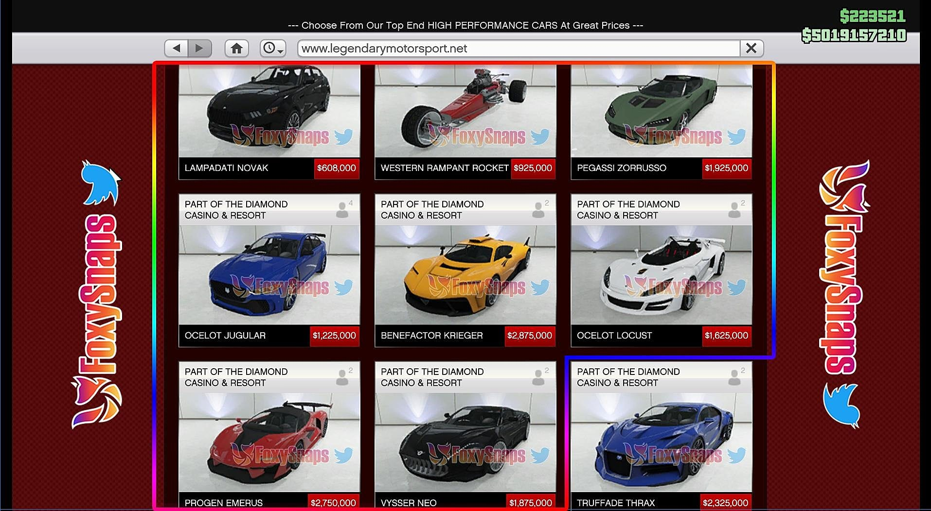 All The New Cars To Look For In GTA Online's Casino Update