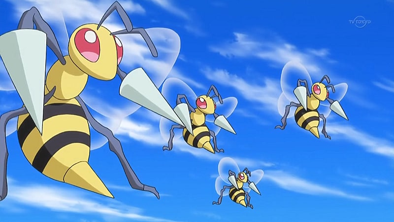 Beedrill generation 1 move learnset (Red, Blue, Yellow ...