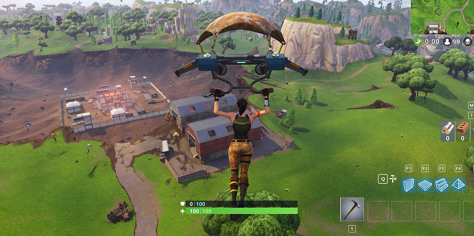 where to find loot - fortnite new dusty divot