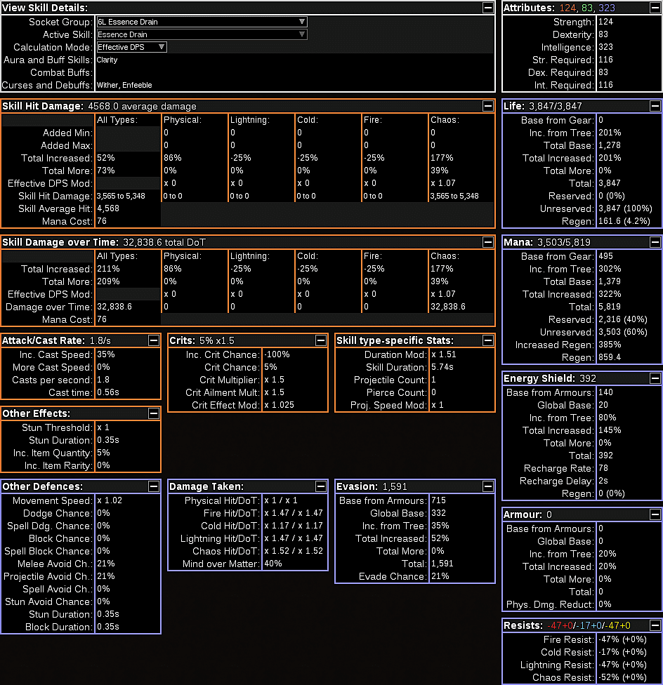 If You Don't Use Path Of Building Or Just Don't Want To Import The Full  Build, Click To Enlarge The Screenshot Below So You Can See A Full Overview  Of This