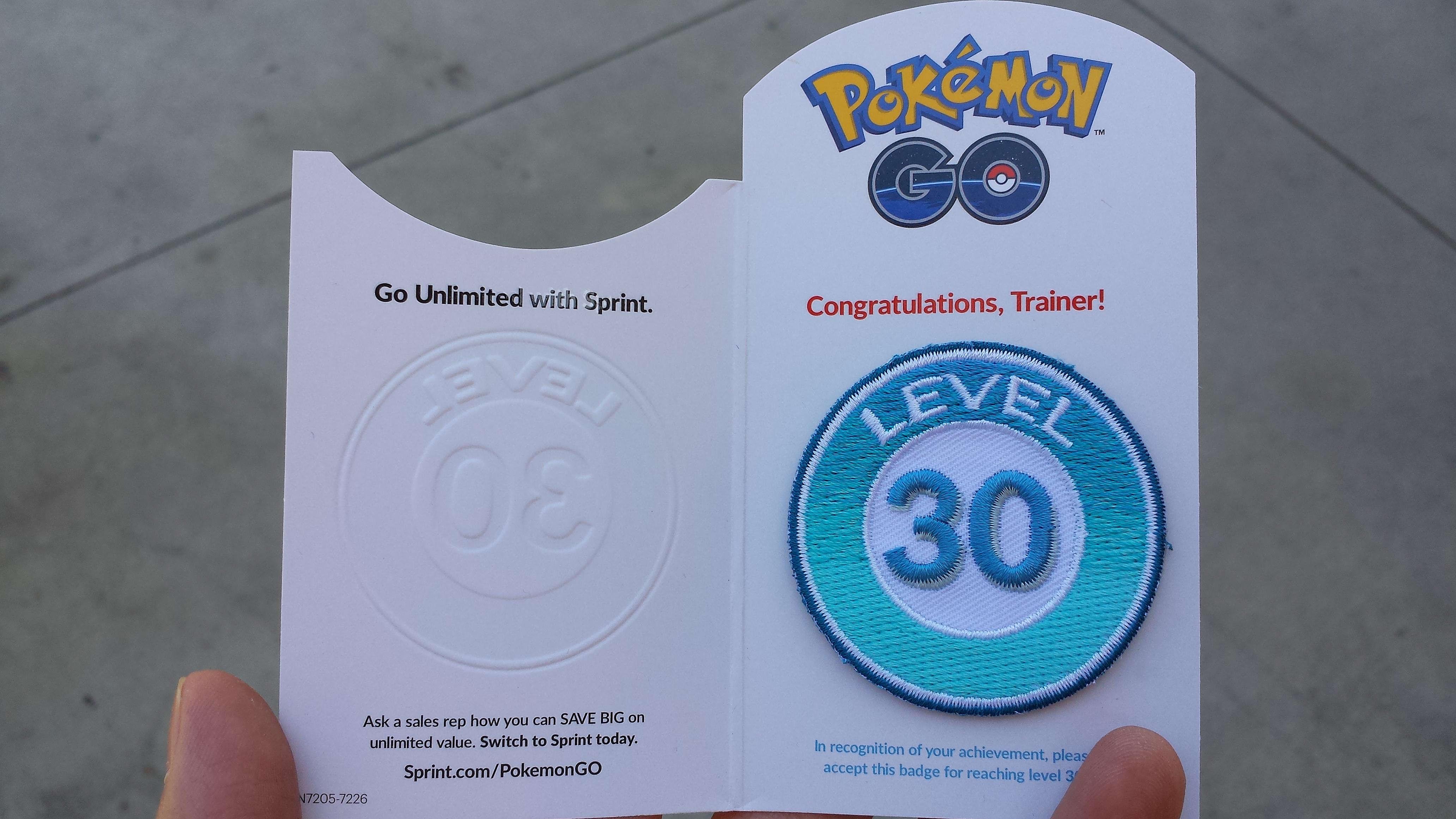 Pokemon Go Level 40 Badge