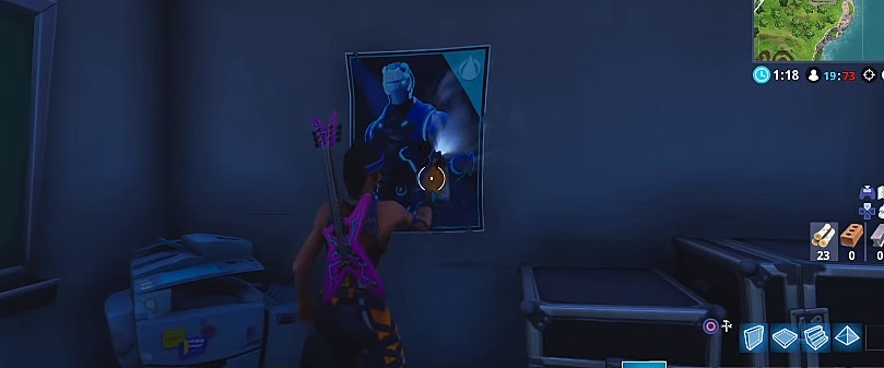 spray painting a fortnite poster thanks to hicko for the screenshot - fortnite season 4 omega herausforderung
