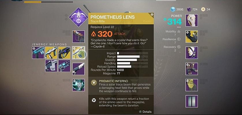 Destiny 2 Guide: Prometheus Lens Exotic Trace Rifle   Destiny 2