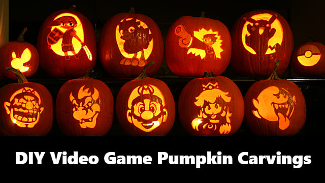 22 Nerdtastic Video Game Pumpkin Carvings You Can DIY This Halloween