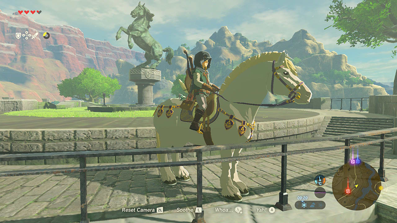 When You Reach Sanadin Park, You'll Notice That A White Horse With A Blonde  Mane Has Now Appeared Be Sure To Stock Up On Stamina Potions And Recovery  Items