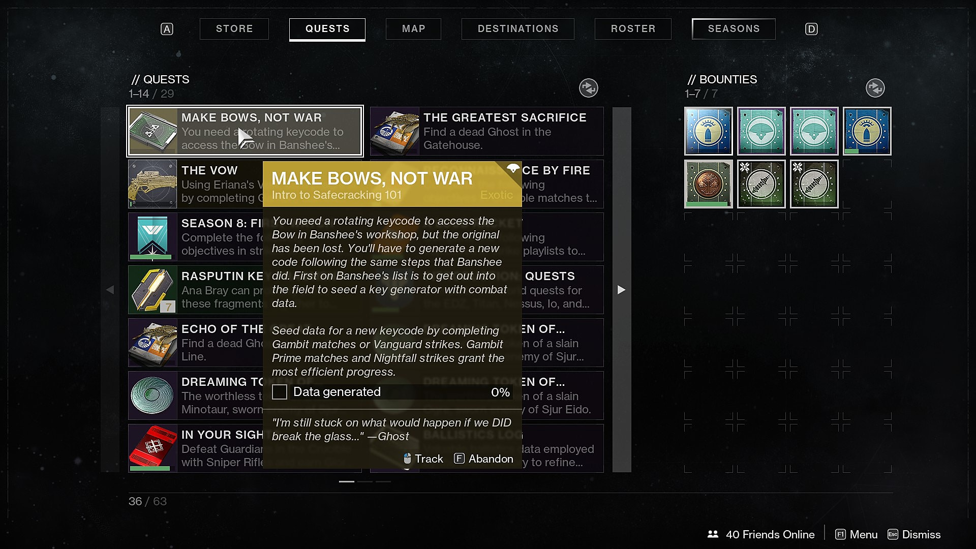 How to Complete the Make Bows, Not War Quest in Destiny 2