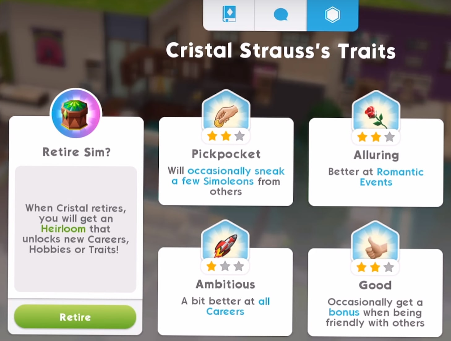 The Sims Mobile Aging, Retirement, and Heirlooms Guide | The
