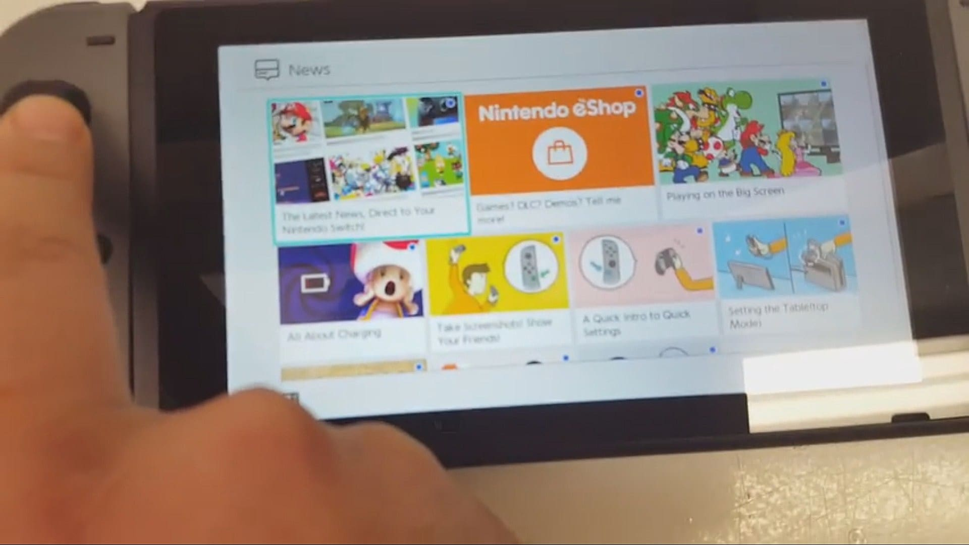 how to get display themes on switch
