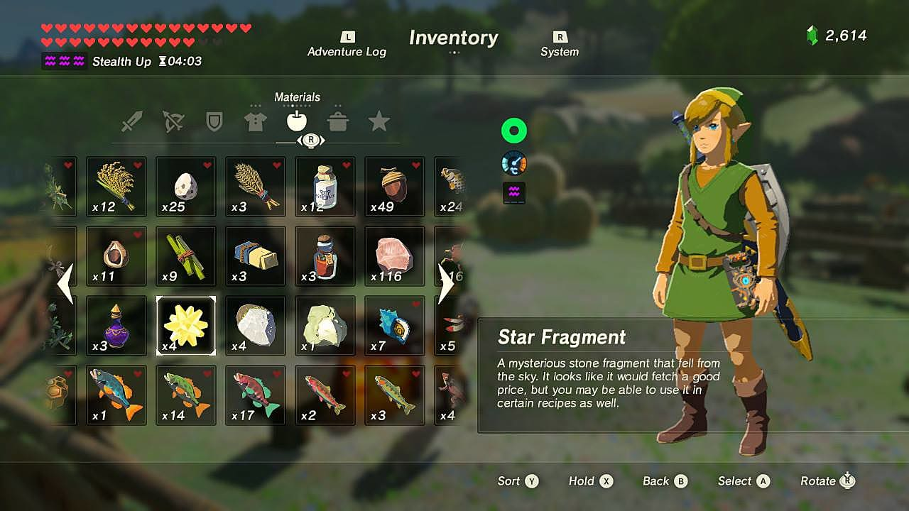 The Legend of Zelda: Breath of the Wild Star Fragment Guide