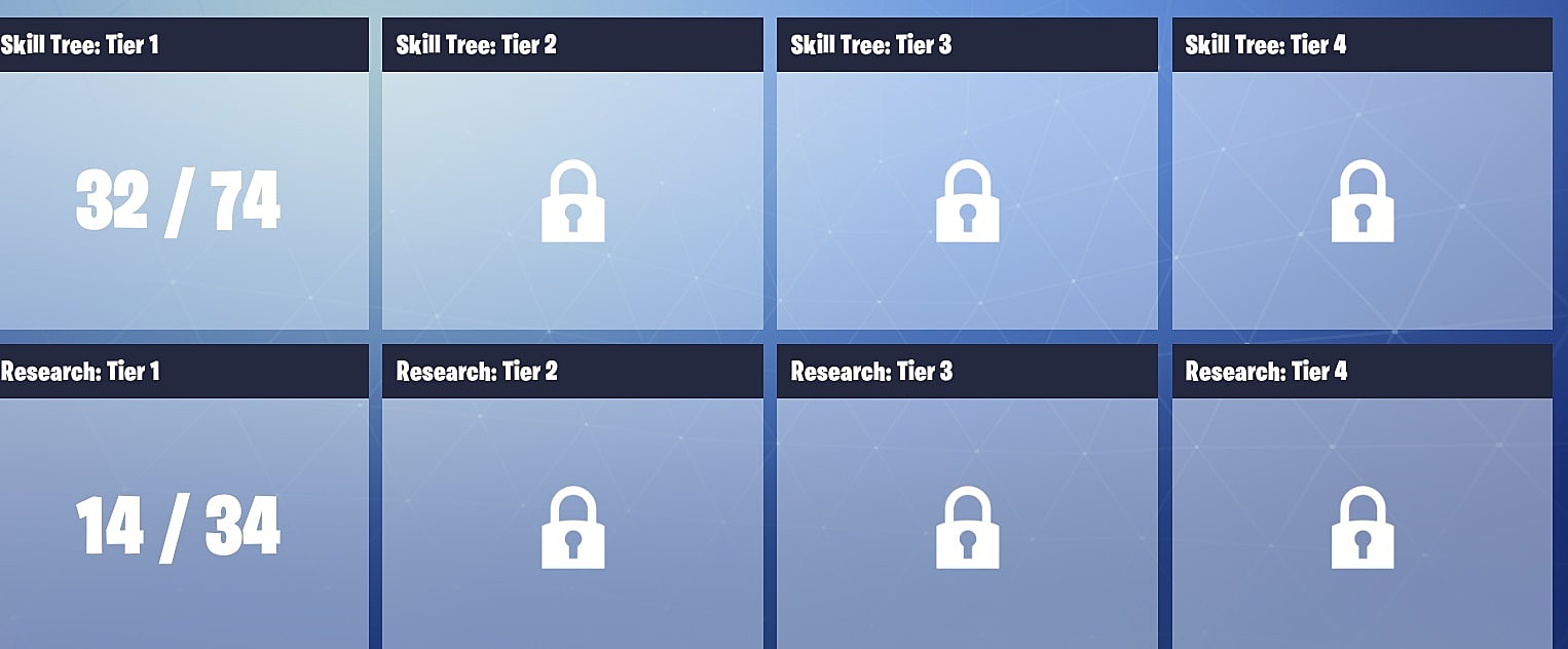 Fortnite guide navigating the unwieldy skill trees fortnite yeah theres a lot to unlock here ccuart Image collections
