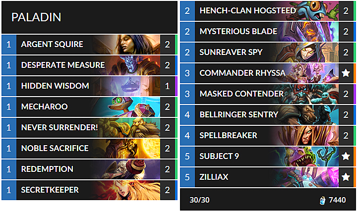 Best Standard Hearthstone Decks for Rise of Shadows Meta | Slide 5