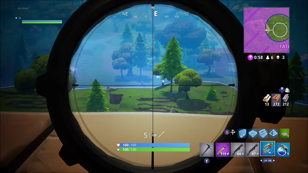 how to use crossbow effectively - fortnite sniping tips