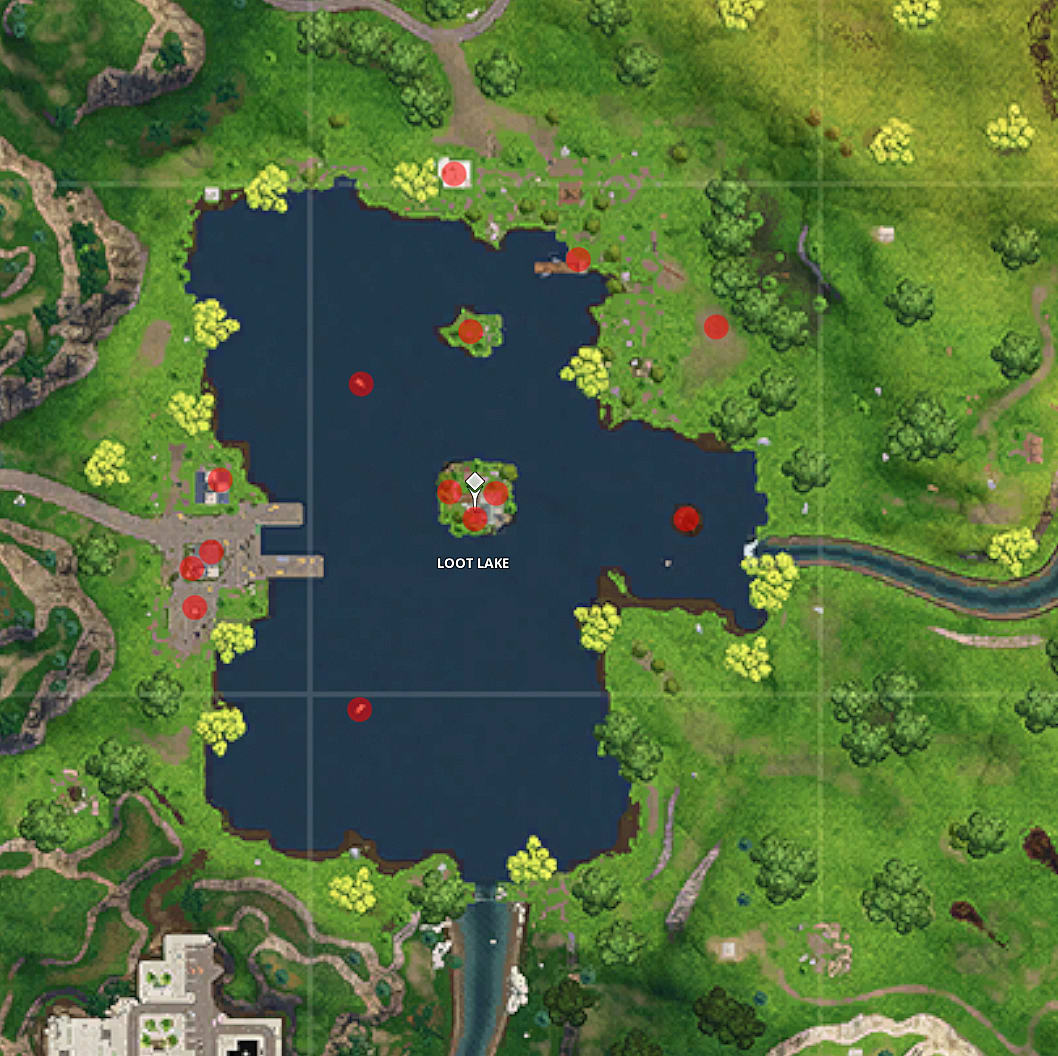 Do Chests In Fortnite Always In Same Place Fortnite Map Guide Loot Lake Chest Locations Fortnite