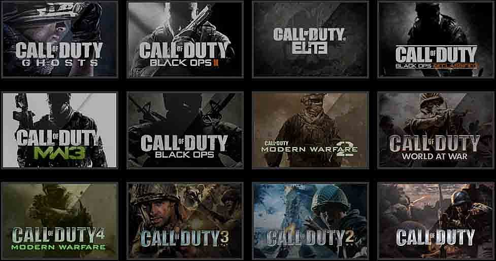 Call Of Duty Game List In Order | WePC