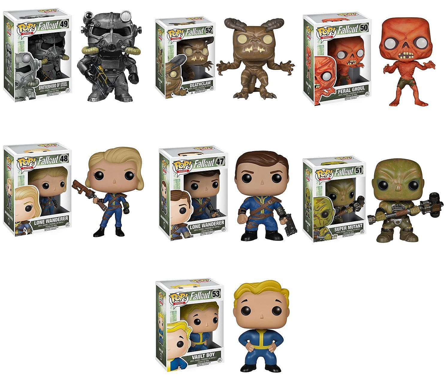 Collection Fallout Funko Pop