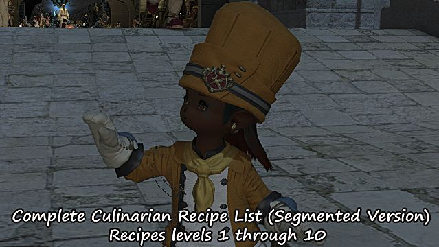 ffxiv complete culinarian ingredient guide list final