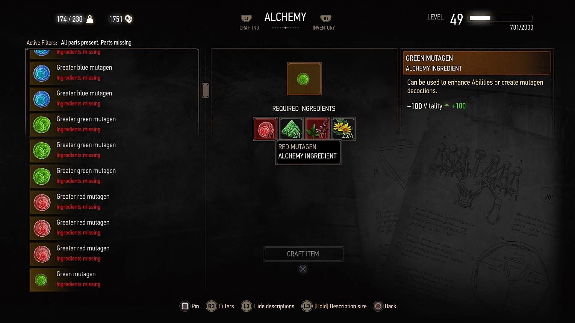 The Witcher 3: Wild Hunt Guide to the Mutagen Transmutator