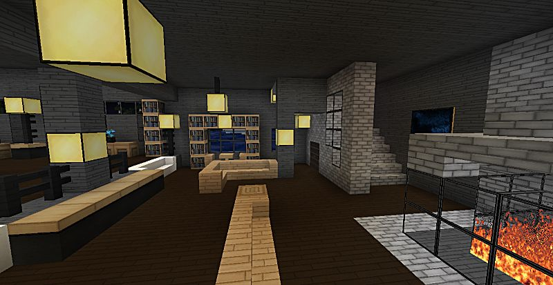 Living Room With Wood Wall Design Ideas Moreover Best Minecraft